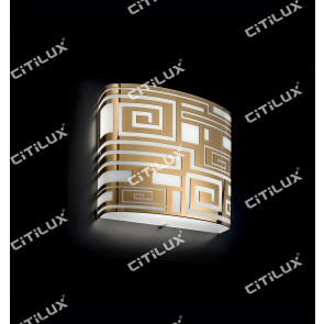 Modern Chinese Square Ceiling Lamp Gold Citilux