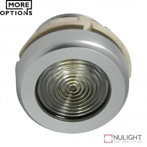 Power Puk 14 Round 350Ma 1W Led Cabinet Light Brushed Aluminium Frame Led DOM