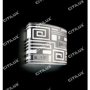 Modern Chinese Square Ceiling Lamp Chrome Citilux