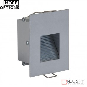Slide 1 Recessed 1W Led Steplight Silver Finish Led DOM