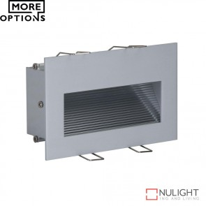 Slide 2 Recessed 2W Led Steplight Silver Finish Led DOM