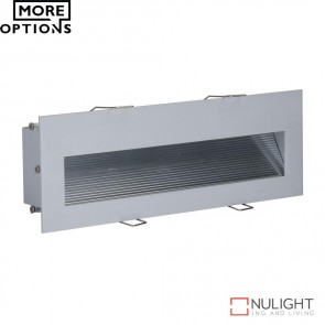 Slide 3 Recessed 3W Led Steplight Silver Finish Led DOM