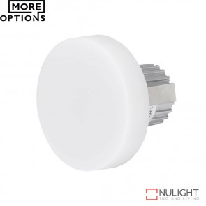 Chill Round Semi Recessed 3W Led Steplight Frosted Fascia Led DOM
