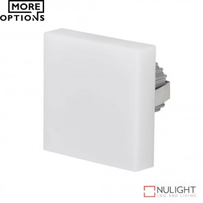 Chill Square Semi Recessed 3W Led Steplight Frosted Fascia Led DOM