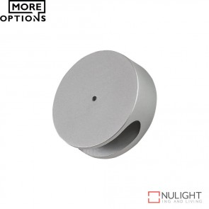 Allure Round Semi Recessed 1W Led Steplight Aluminium Finish Led DOM
