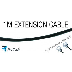 1M EXTENTION CABLE EITH MALE AND FEMAL PLUG TO SUIT ALL PRO-TECH DECK LIGHTS VTA