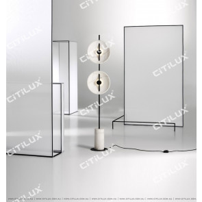Black And White Simple Modern Double-Headed Floor Lamp Citilux
