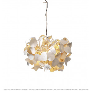 Beige Leather Tree Chandelier Citilux