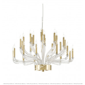 Simple Modern Glass Multi-Head Chandelier Citilux