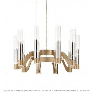 Simple Modern Semi-Plated Glass Chandelier Citilux