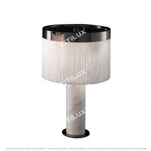 Jazz White Marble Column Tassel Table Lamp Citilux
