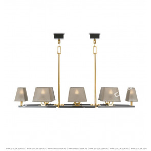 New Chinese-Style Simple Square Cone Chandelier Citilux