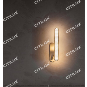 Modern Minimalist Metal Texture Single Head 3 Lights Wall Light Citilux