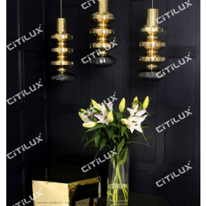 Golden Bead Long Shape Chandelier Citilux