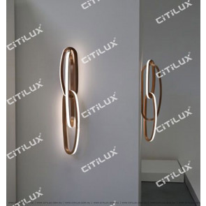 Simple Line Stainless Steel Led Wall Light Citilux