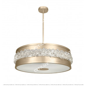 Jane'S Copper-Pull Crystal Stone Ceiling Lamp Citilux
