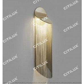 Mirrored Zirconium Gold Tassel Beautiful Wall Lamp Citilux