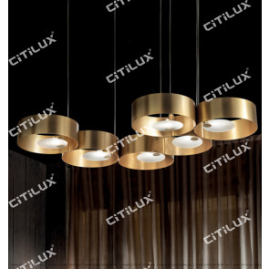 Lajin Zirconium Gold Ring Combination Simple Chandelier Citilux