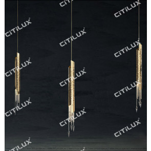 Metal Texture Crystal Single Head Pendant Lamp Citilux
