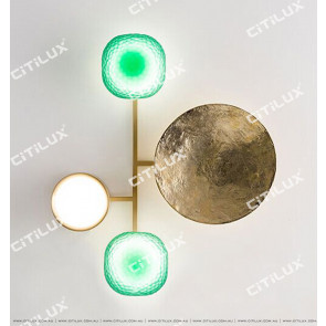 Full Copper Gong Disc Medium Wall Light Citilux
