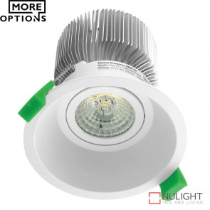 Deep 90 Round 13W Deepset Led Downlight White Frame Led DOM