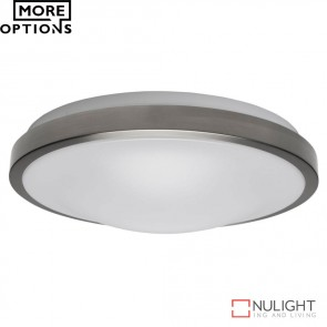 Ora 300 Round 15W Dimmable Led Ceiling Light Satin Chrome Metal Trim Led DOM