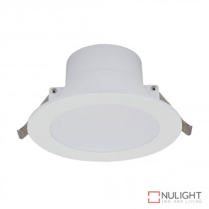 Poly 10 Round 10W Dimmable Led Downlight White Frame White Led DOM