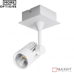 Jet 1 Single Led Spotlight White Finish Led DOM