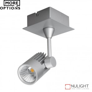 Jet 1 Single Led Spotlight Silver Finish Led DOM