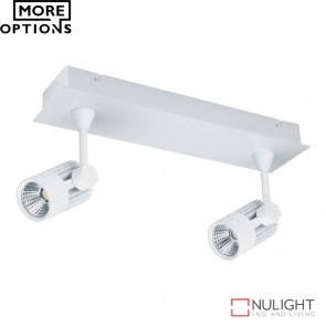 Jet 2B Twin Led Bar Spotlight White Finish Led DOM