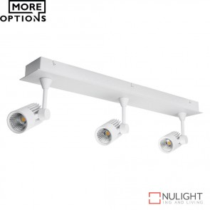 Jet 3B Triple Led Bar Spotlight White Finish Led DOM