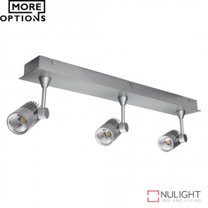 Jet 3B Triple Led Bar Spotlight Silver Finish Led DOM