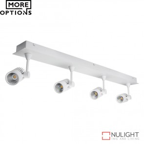 Jet 4B Quad Led Bar Spotlight White Finish Led DOM