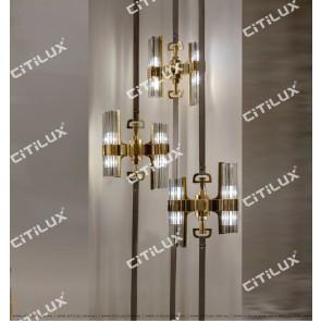 Light Luxury Metal Four-Corner Glass Chandelier Citilux