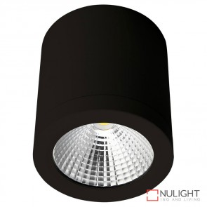 Neo Sm 13 Cylindrical 240V 13W Led Ceiling Light Black Finish Warm White Led DOM