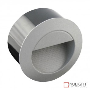 Led 501 Round 240V 1.2W Recessed Led Steplight Silver Fascia White Led DOM