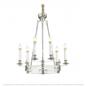 Modern All-Copper American Chandelier Chrome Citilux