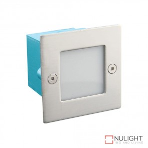 Led 734 Mini Square 12V 0.8W Recessed Led Steplight Stainless Steel Fascia White Led DOM