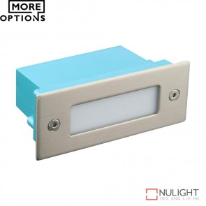 Led 804 Mini Rectangular 240V 1W Recessed Led Steplight Stainless Steel Fascia Led DOM