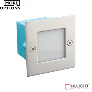 Led 834 Mini Square 240V 0.8W Recessed Led Steplight Stainless Steel Fascia Led DOM
