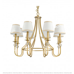 American Copper Fabric Chandelier Citilux