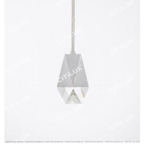 Diamond Crystal Single Head Bar Chandelier Citilux