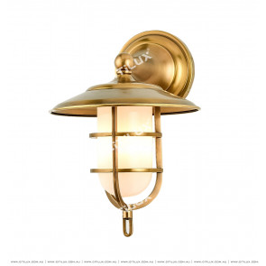 Full Copper Mining Cap With Single Head Wall Light / Outdoor Citilux