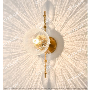 Cracked Glass Ball Combined Light Effect Wall Lamp Citilux
