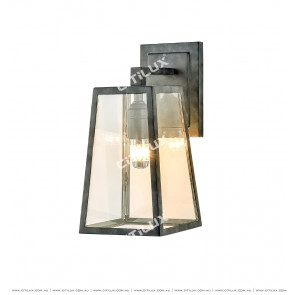 Full Copper Glass Cover Single Head Wall Light / Outdoor Citilux