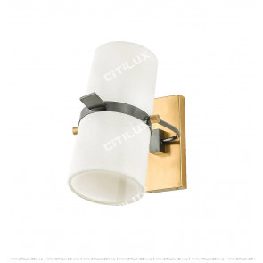American Copper Speaker Fabric Wall Lamp Citilux