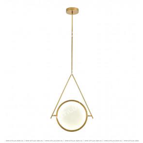 Minimalist Copper Round Led Chandelier Citilux