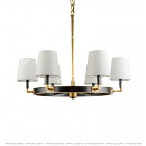 American Copper Round Small Chandelier Citilux