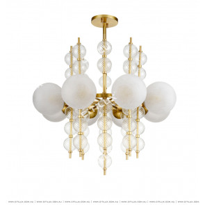 Cracked Glass Ball Combination Chandelier Citilux