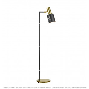 American Black + Gold Floor Lamp Citilux